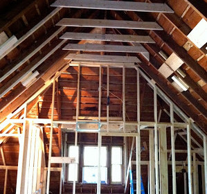 After re-framing the floor completely the walls and ceiling were vented and then sealed in foam insulation. Once the foam was done the rafters were filled ... & Creative Attic Renovation adds Value to a Home - Artisan Remodeling LLC